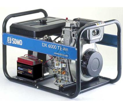 Дизельный генератор SDMO DX 6000 TE