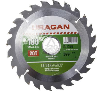 Круг пильный твердосплавный URAGAN 36800-180-30-20