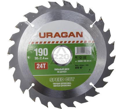 Круг пильный твердосплавный URAGAN 36800-190-30-24