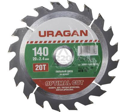 Круг пильный твердосплавный URAGAN 36801-140-20-20