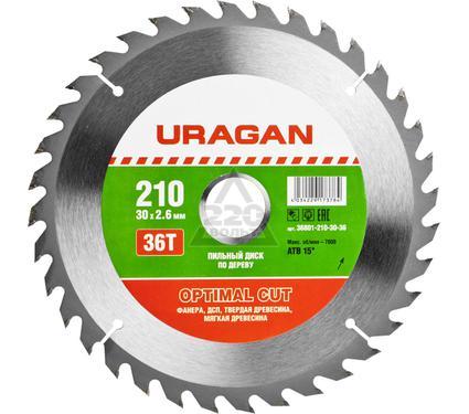 Круг пильный твердосплавный URAGAN 36801-210-30-36