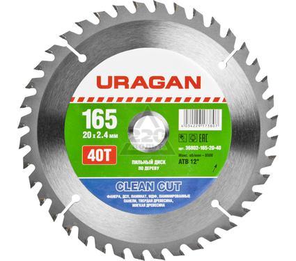 Круг пильный твердосплавный URAGAN 36802-165-20-40