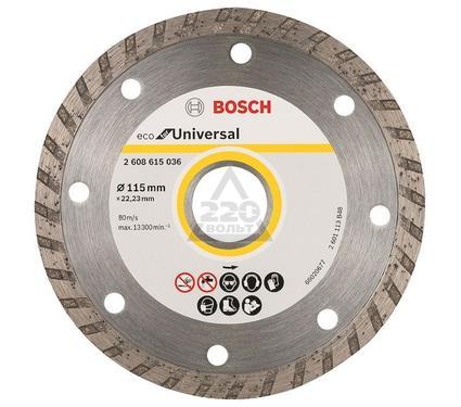 Круг алмазный BOSCH ECO Universal Turbo Ф115-22мм 10шт.