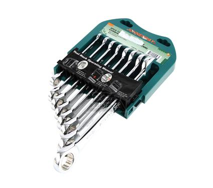Набор гаечных ключей с трещоткой, 8 шт. JONNESWAY W45308S
