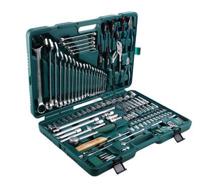 Набор инструментов в пластиковом кейсе, 128 предметов JONNESWAY S04H524128S