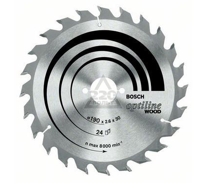 Круг пильный твердосплавный BOSCH Optiline Wood 130 X 20 X 20/16