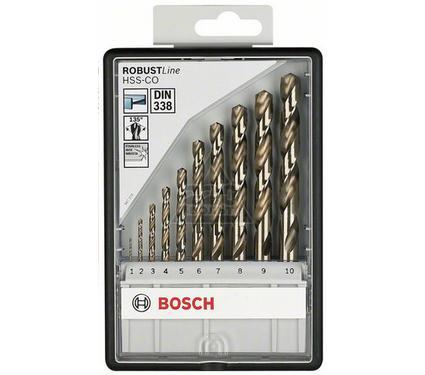 Набор сверл BOSCH Robust Line HSS-Co 10 шт.