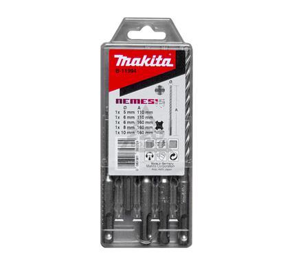 Набор буров MAKITA SDS+ NEMESIS 5 шт.: 5,6 X 110 мм, 6,8,10 X 160 мм