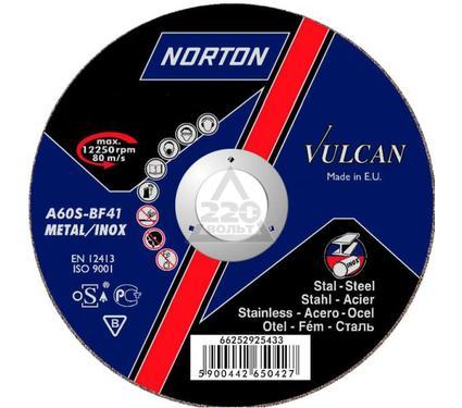 Круг отрезной NORTON 125 Х 1.6 Х 22, NORTON VULKAN по металлу