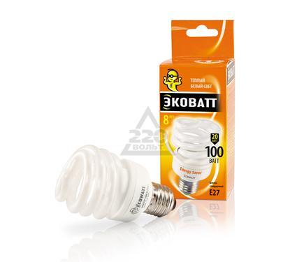 Лампа энергосберегающая ECOWATT Mini FSP 20W 827 E27