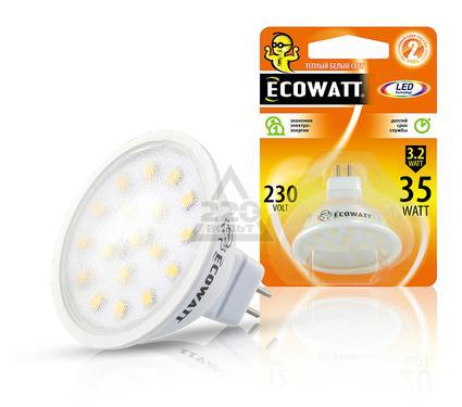 Лампа светодиодная ECOWATT MR16 230В 3.2(35)W 2700K GU5.3