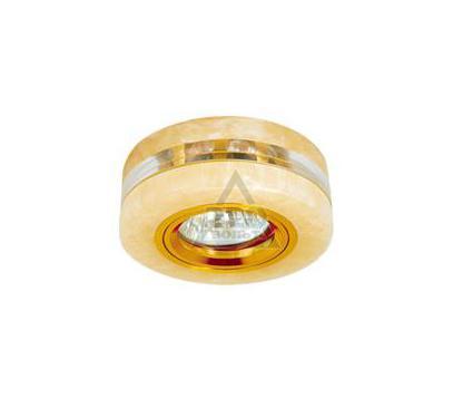 Светильник встраиваемый АКЦЕНТ Crystal 804 золото/желтый