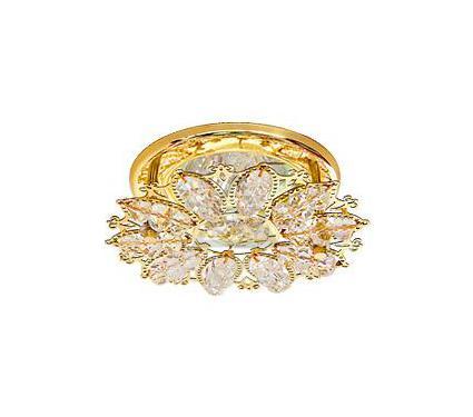 Светильник встраиваемый АКЦЕНТ Crystal 815 золото/прозрачный