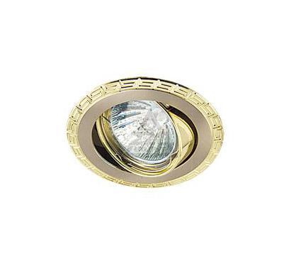 Светильник встраиваемый АКЦЕНТ Versace 16159GA матовый никель/золото