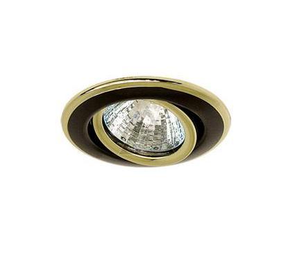 Светильник встраиваемый АКЦЕНТ 113AA1 чёрный никель/золото