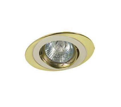 Светильник встраиваемый АКЦЕНТ WL-110 жемчужное серебро/золото