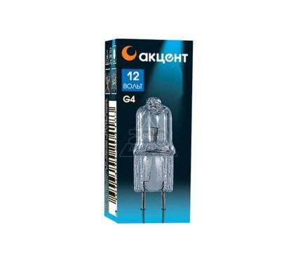 Лампа галогенная АКЦЕНТ JC 12В  35W G4 капсульная прозрачная