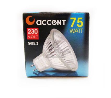 Лампа галогенная АКЦЕНТ JCDR 230В  75W GU5.3 с отражателем и защитным стеклом
