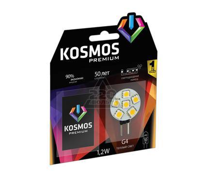 Лампа светодиодная КОСМОС LED 1.2Вт JCR G4 12v  3000K