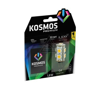 Лампа светодиодная КОСМОС LED 1.8Вт JC G4 12v  4500K