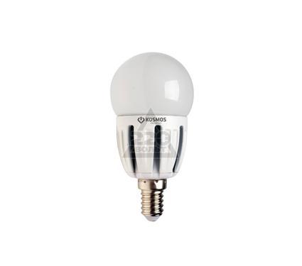 Лампа светодиодная КОСМОС LED 5Вт шар 45мм E14 230В  4500K