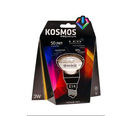 Лампа светодиодная КОСМОС LED 3Вт R39 E14 230v 3000K