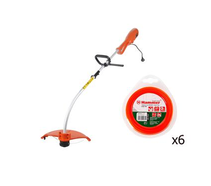 Набор: Триммер  HAMMER Flex ETR1100 + 6 лесок