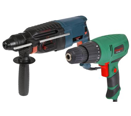 Набор: Перфоратор HAMMER PRT800C PREMIUM  +  Дрель-шуруповерт Hammer Flex DRL400A