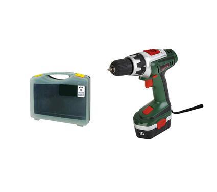 Набор: Дрель аккумуляторная HAMMER Flex ACD182 + Кейс с оснасткой и детектором