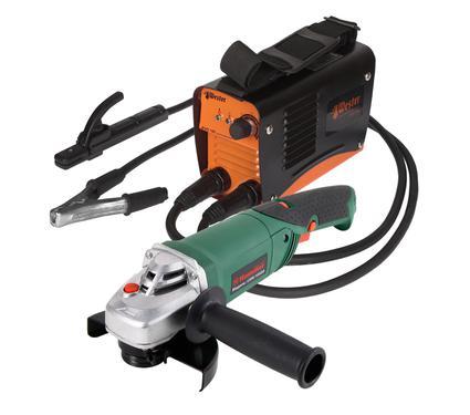Набор: Сварочный аппарат WESTER EVO 140+УШМ Hammer Flex USM1050A