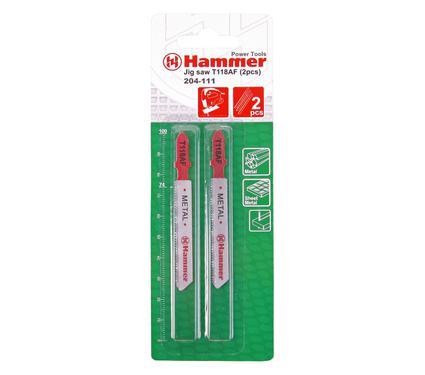 Пилки для лобзика HAMMER JG MT T118AF (2pcs)