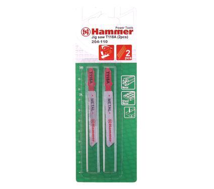 Пилки для лобзика HAMMER JG MT T118A (2pcs)