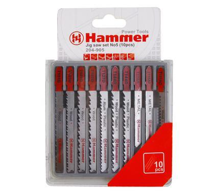 Пилки для лобзика HAMMER JG WD-PL-MT set No5 (10pcs)