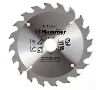 Круг пильный твердосплавный HAMMER CSB WD 130мм*20*20/16мм