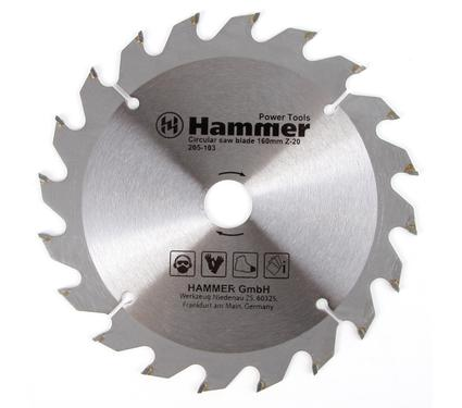 Круг пильный твердосплавный HAMMER CSB WD 160мм*20*20/16мм