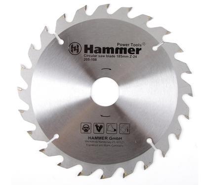 Круг пильный твердосплавный HAMMER CSB WD 185мм*24*30/20мм