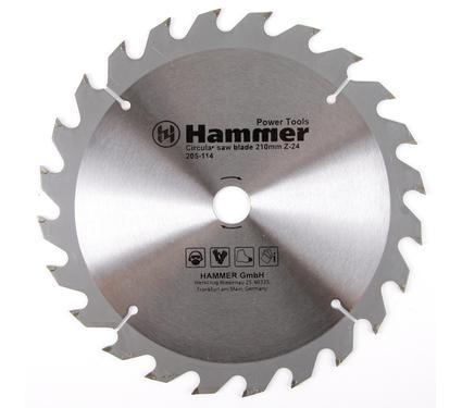 Круг пильный твердосплавный HAMMER CSB WD 210мм*24*20/16мм