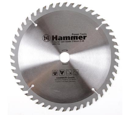 Диск пильный твердосплавный HAMMER CSB WD 210мм*48*20/16мм