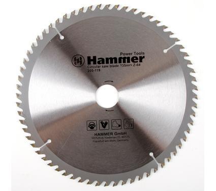 Круг пильный твердосплавный HAMMER CSB WD 235мм*64*30/20мм