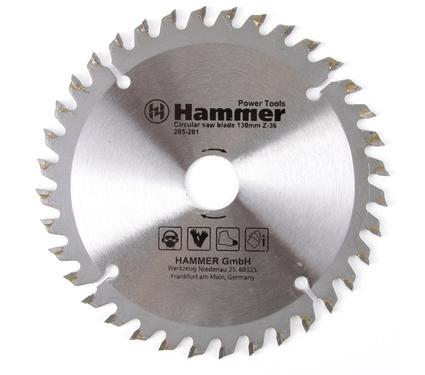 Круг пильный твердосплавный HAMMER CSB PL 130мм*36*20/16мм