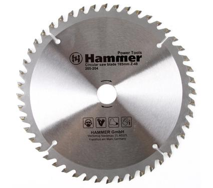 Круг пильный твердосплавный HAMMER CSB PL 185мм*48*20/16мм