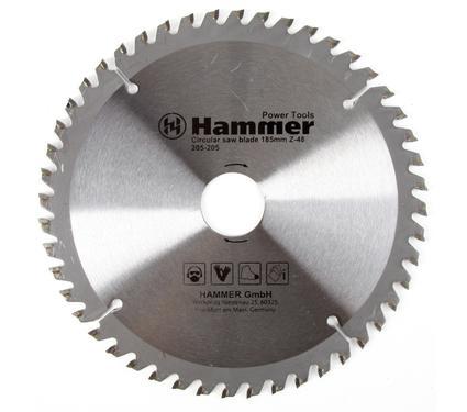 Круг пильный твердосплавный HAMMER CSB PL 185мм*48*30/20мм