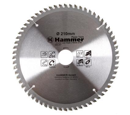 Круг пильный твердосплавный HAMMER CSB PL 210мм*64*30/20мм