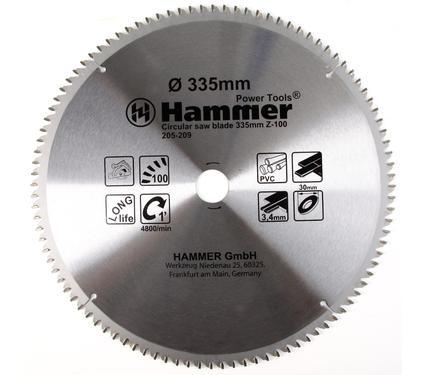 Круг пильный твердосплавный HAMMER CSB PL 335мм*100*30мм
