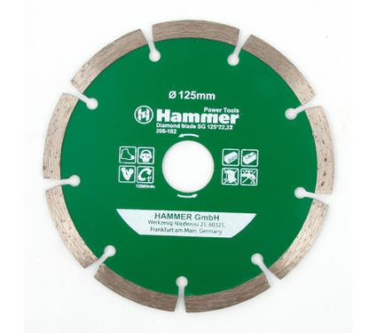 Круг алмазный HAMMER DB SG 125*22мм
