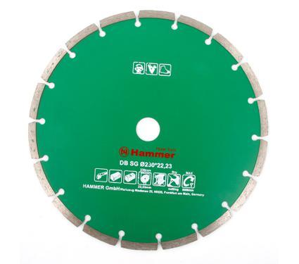 Круг алмазный HAMMER DB SG 230*22мм