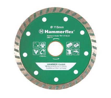 Круг алмазный HAMMER DB TB 115*22мм