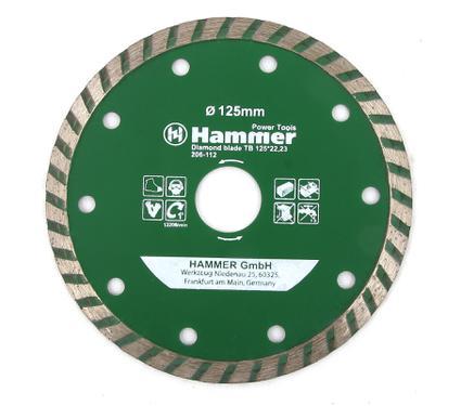 Круг алмазный HAMMER DB TB 125*22мм