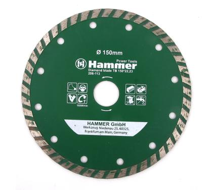 Круг алмазный HAMMER DB TB 150*22мм