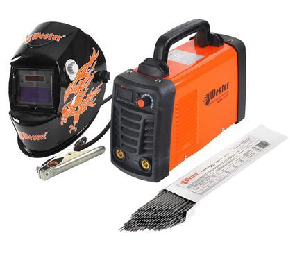 Набор: Сварочный аппарат WESTER ММА 220 H + маска сварщика WESTER WH8 + электроды для сварки
